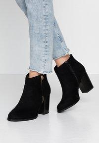 New Look Wide Fit - WIDE FIT DASSEL  - Kotníková obuv - black - 0
