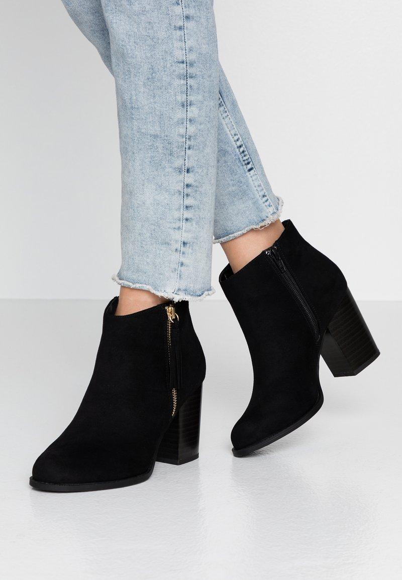 New Look Wide Fit - WIDE FIT DASSEL  - Kotníková obuv - black