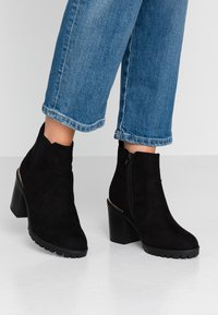 New Look Wide Fit - WIDE FIT CARRIE - High heeled ankle boots - black - 0