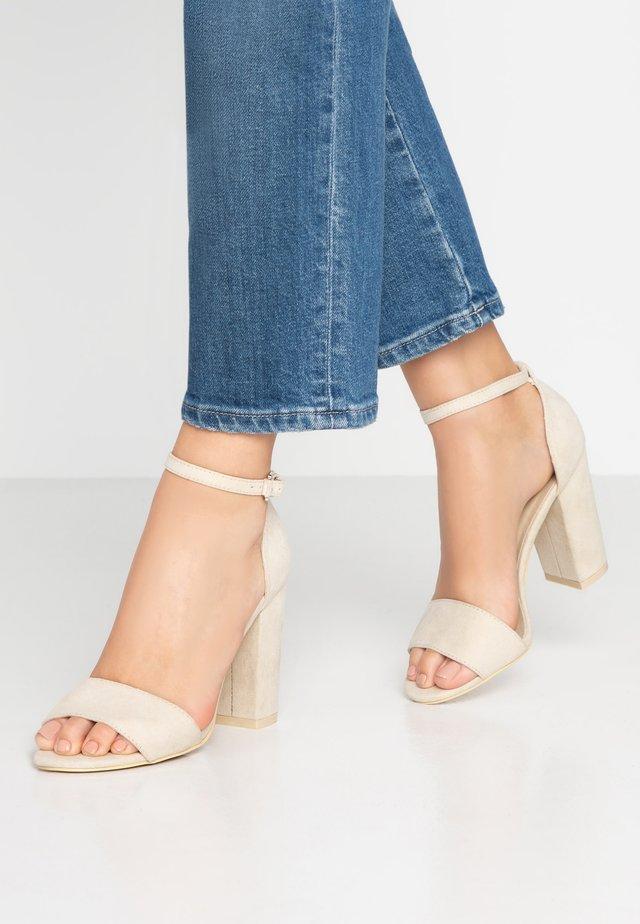 BLOCK  - High heeled sandals - beige