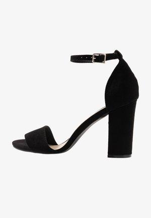 BLOCK  - High heeled sandals - black