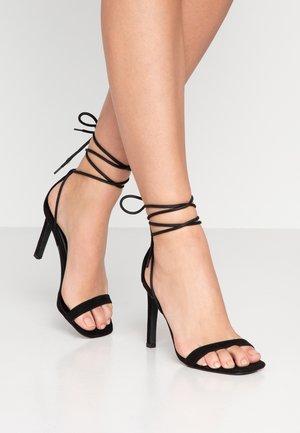 SQUARE HEEL - Sandaler med høye hæler - black