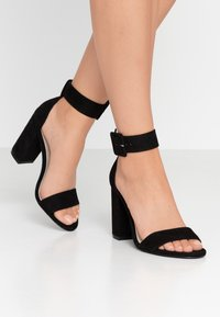 Nly by Nelly - ANKLE BUCKLE - High heeled sandals - black - 0