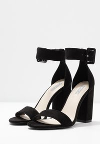 Nly by Nelly - ANKLE BUCKLE - High heeled sandals - black - 4