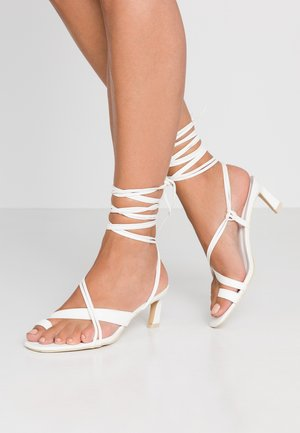 ALL MINE HEEL - Sandaler - white