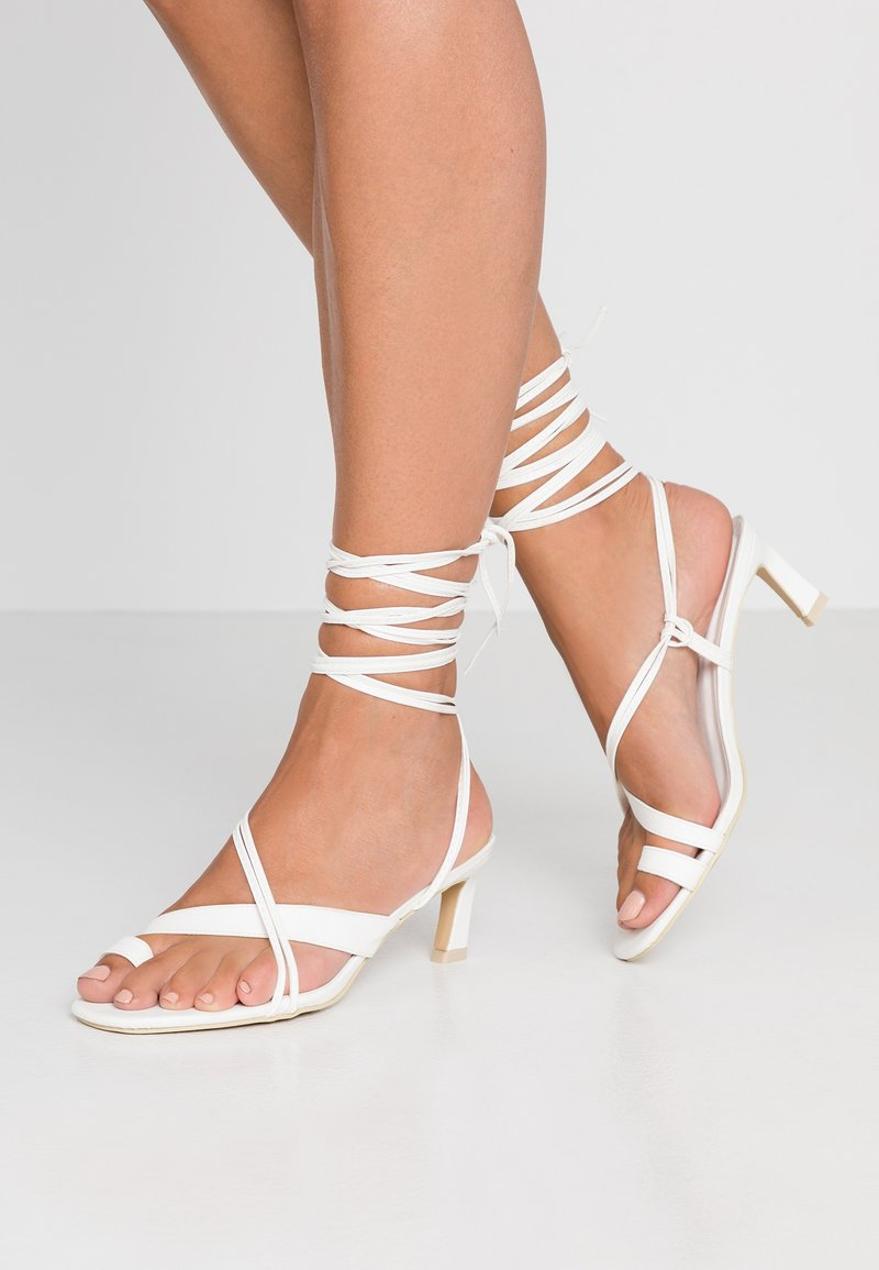 Nly by Nelly - ALL MINE HEEL - Riemensandalette - white