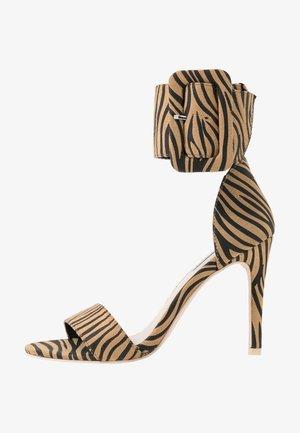 BUCKLE - High heeled sandals - light brown