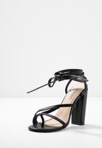 Nly by Nelly - ADORABLE STRAP BLOCK - High heeled sandals - black - 4
