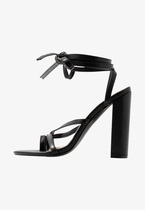 ADORABLE STRAP BLOCK - High heeled sandals - black