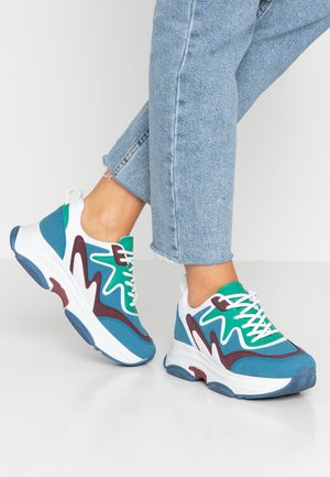 BRILLIANT - Sneakers laag - blue/green