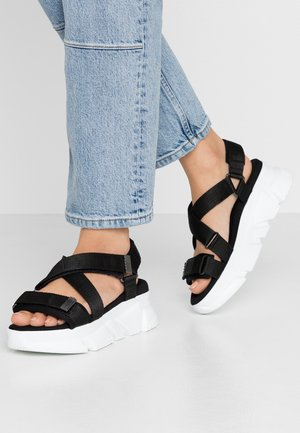 PERFECT CHUNKY - Platform sandals - white/black