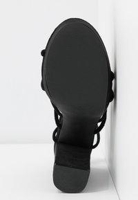 Nly by Nelly - LACE UP  - Sandály na vysokém podpatku - black - 6