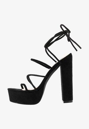LACE UP  - Sandaletter - black