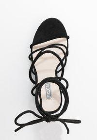 Nly by Nelly - LACE UP  - Sandály na vysokém podpatku - black - 3