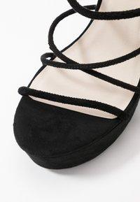 Nly by Nelly - LACE UP  - Sandály na vysokém podpatku - black - 2