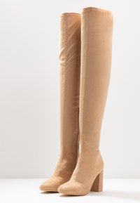 Nly by Nelly - MID THIGH BOOT - High heeled boots - nougat - 4