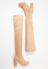 Nly by Nelly - MID THIGH BOOT - High heeled boots - nougat - 3