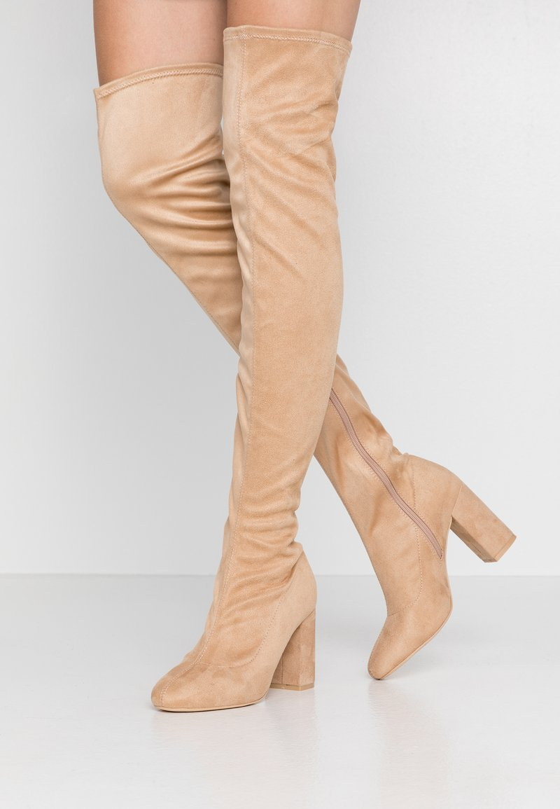 Nly by Nelly - MID THIGH BOOT - High heeled boots - nougat