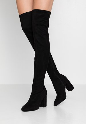 MID THIGH BOOT - High heeled boots - black