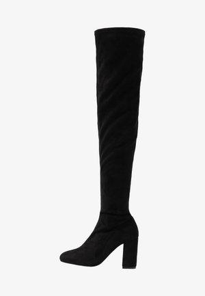 MID THIGH BOOT - Kozačky na vysokém podpatku - black
