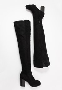 Nly by Nelly - THIGH HIGH WOOD HEEL - Over-the-knee boots - black - 3