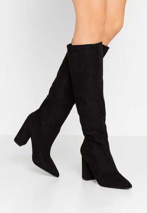 WIDE KNEE HIGH BOOT - Klassiska stövlar - black