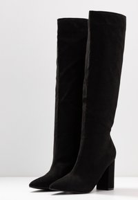 Nly by Nelly - WIDE KNEE HIGH BOOT - Boots - black - 4