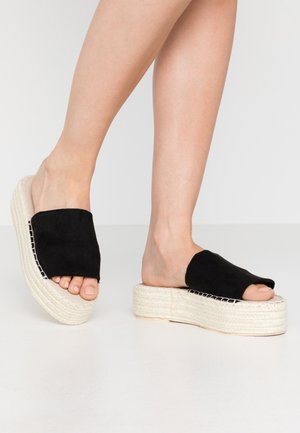 BRAIDED SLIP IN - Pantofle na podpatku - black