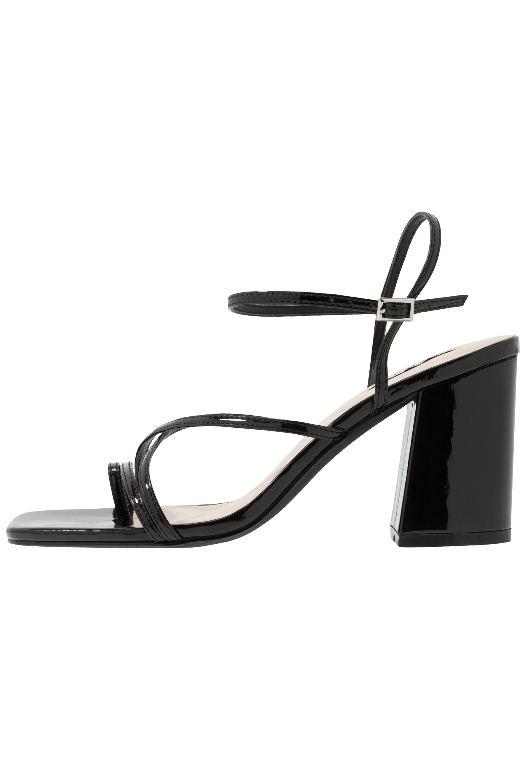 Nly by Nelly FLARED BLOCK - Sandales à talons hauts - black