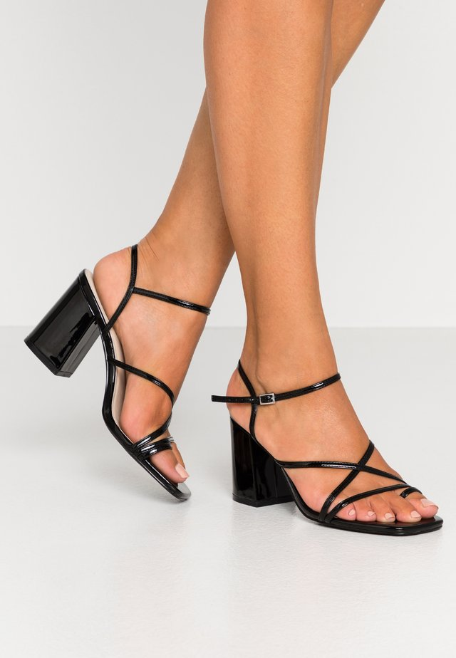 FLARED BLOCK  - Sandalen met hoge hak - black