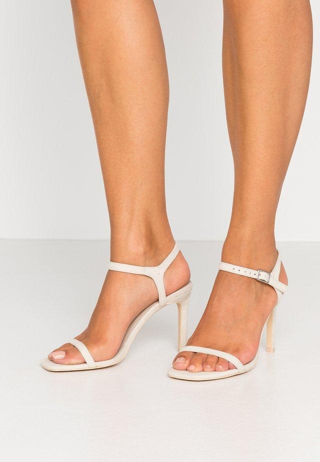 SQUARE  - High heeled sandals - beige