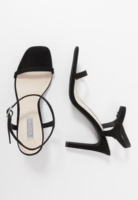 Nly by Nelly - SQUARE  - High heeled sandals - black - 3