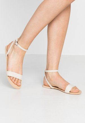 PLAIN ANKLE STRAP  - Sandals - beige
