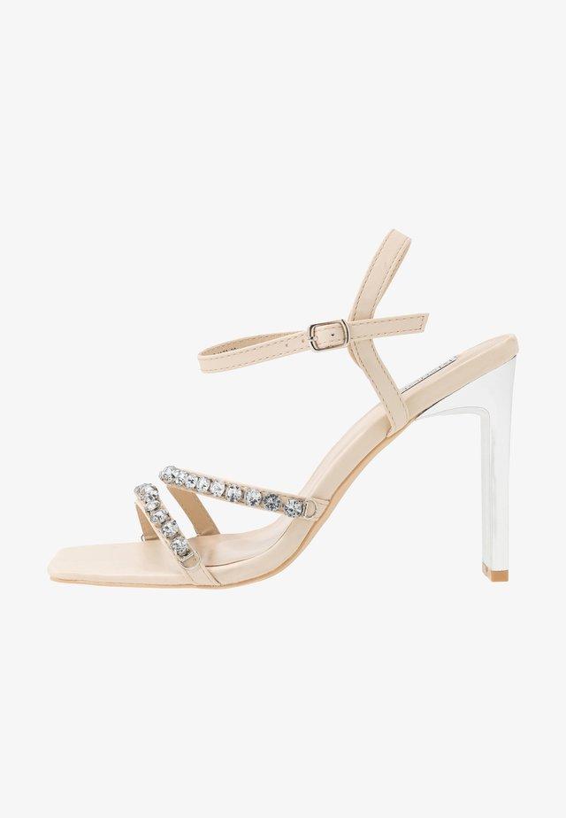 GLITTER - High heeled sandals - champagne