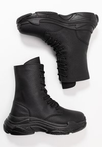 Nly by Nelly - HIGH SHAFT BOOT - Lace-up ankle boots - black - 3