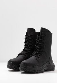 Nly by Nelly - HIGH SHAFT BOOT - Lace-up ankle boots - black - 4
