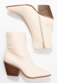 Nly by Nelly - FLARED BLOCK HEEL BOOT - Støvletter - beige - 3