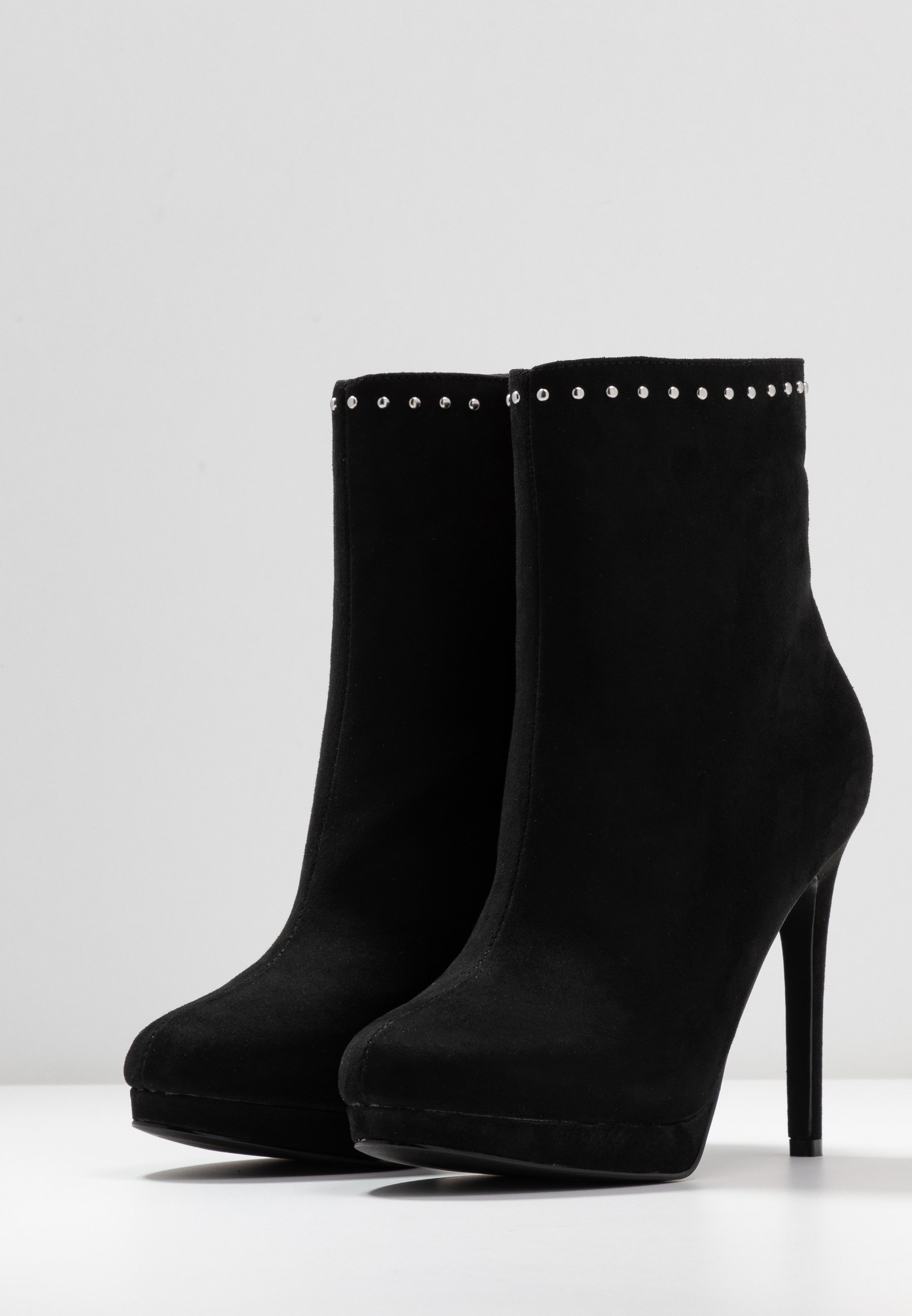 Nly by Nelly STUDDED PLATFORM BOOT - High heeled ankle boots - black