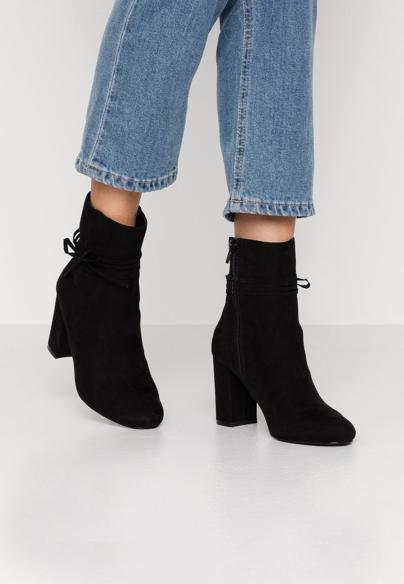 Nly by Nelly - STRAP DETAIL BOOT - High heeled ankle boots - black