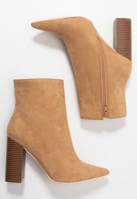 Nly by Nelly - BLOCK BOOT - High heeled ankle boots - brown - 3