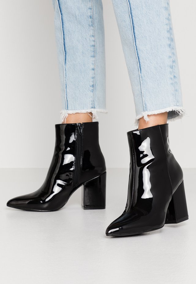 BLOCK  - High heeled ankle boots - black
