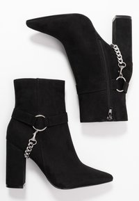 Nly by Nelly - CHAIN BLOCK BOOT - High heeled ankle boots - black - 3