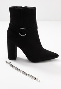 Nly by Nelly - CHAIN BLOCK BOOT - High heeled ankle boots - black - 7