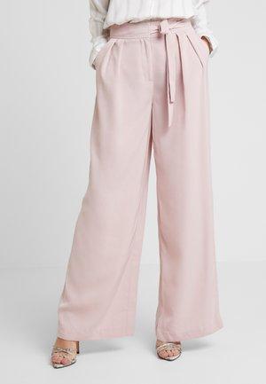 FLOWY TIE PANTS - Kangashousut - pink