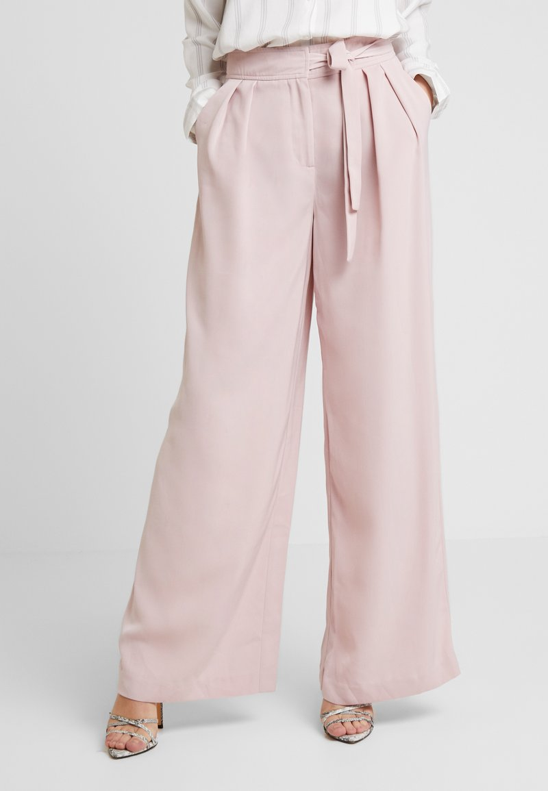 Nly by Nelly - FLOWY TIE PANTS - Stoffhose - pink
