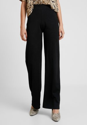 STRAIGHT PANTS - Pantalon classique - black