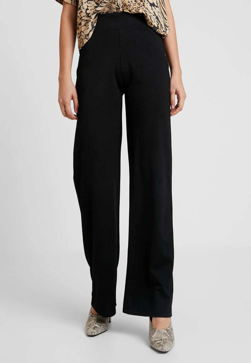 Nly by Nelly - STRAIGHT PANTS - Kangashousut - black
