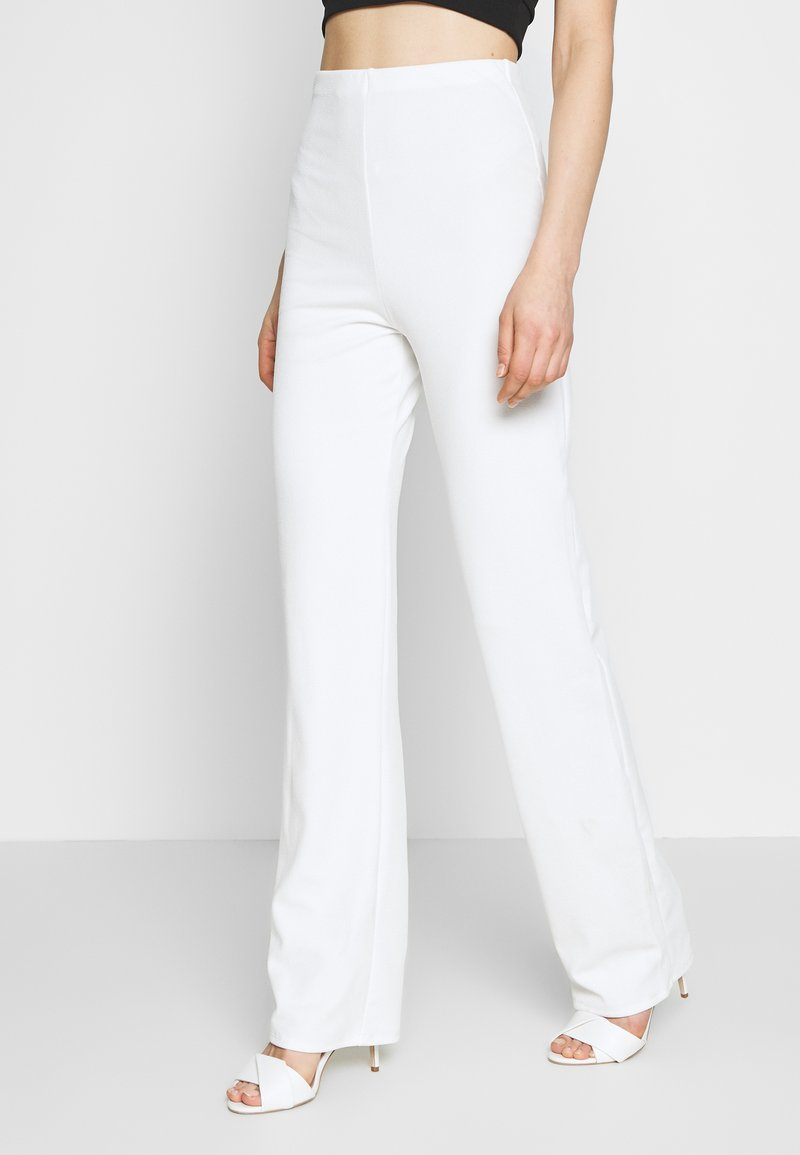 Nly by Nelly - STRAIGHT PANT - Kalhoty - white