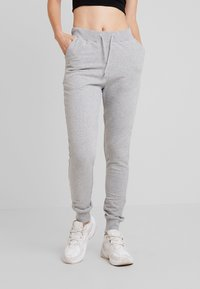 Nly by Nelly - PERFECT - Spodnie treningowe - grey mélange - 0