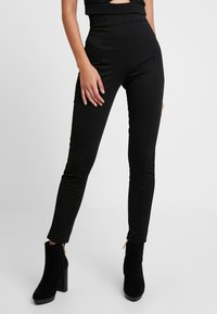 Nly by Nelly - SHAPE HIGH WAIST PANT - Tygbyxor - black - 0